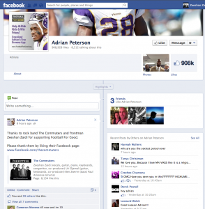 Adrian Peterson FB post